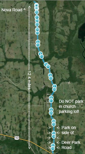 Course layout for Cowbell Classic on September 1, 2014