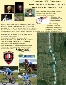 USA Cycling Flyer for The Holiday Time Trial Series