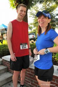 Kathleen and Patrick after finishing a 5K in Avalon Park
