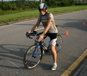 Pat in August 2013, his first time trial with Orlando Runners and Riders