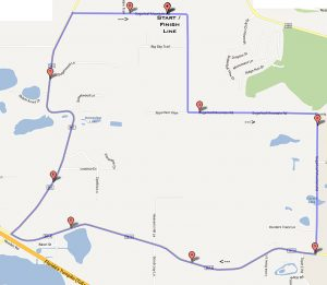 8.8 mile Time Trial course.